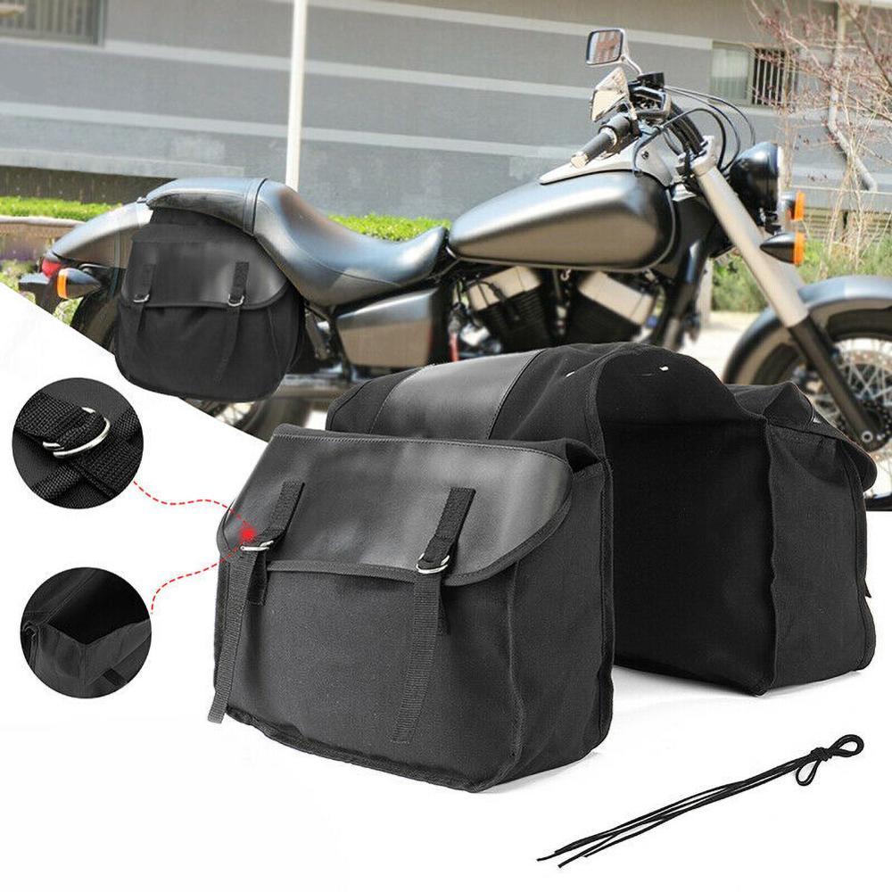 New Double Luggage Motorcycle Waterproof Moto Helmet Travel Bags Suitcase Saddlebags and Raincoat Rack Bag Side Backpack Packing