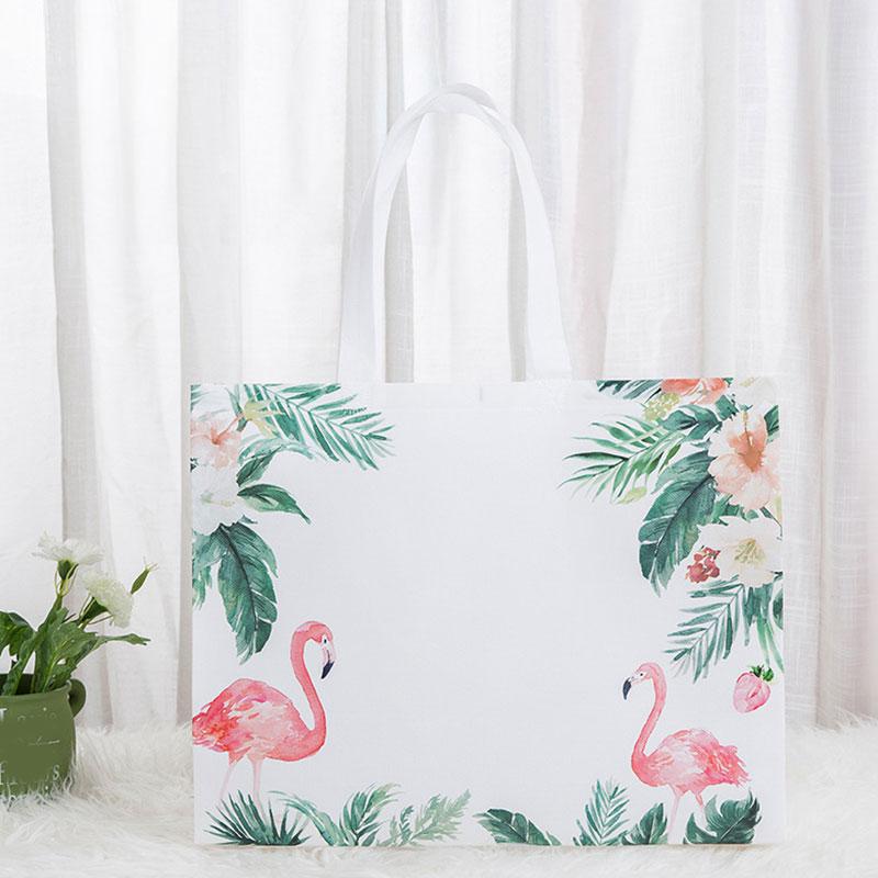 1 bolsa de compras ecológica, bolsa de viaje con estampado de flamenco, bolsa plegable de tela no tejida, bolsa organizadora reutilizable, bolsa de mano para mujer