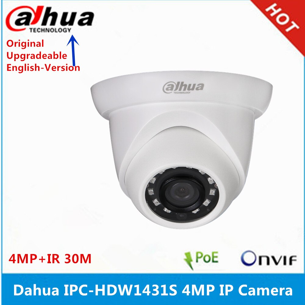 Original Dahua Englisch version IPC-HDW1431S 4MP IR30 Meter Augapfel IP67 IK10 IP Kamera unterstützung Cloud storag P2P upgrade firmware
