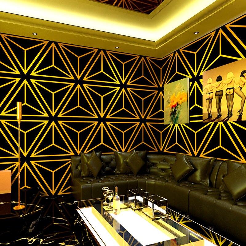 ورق جدران غرفة الكاريوكي ، قماش جداري ثلاثي الأبعاد ، نمط هندسي عاكس ، صندوق موضوع ، خلفية