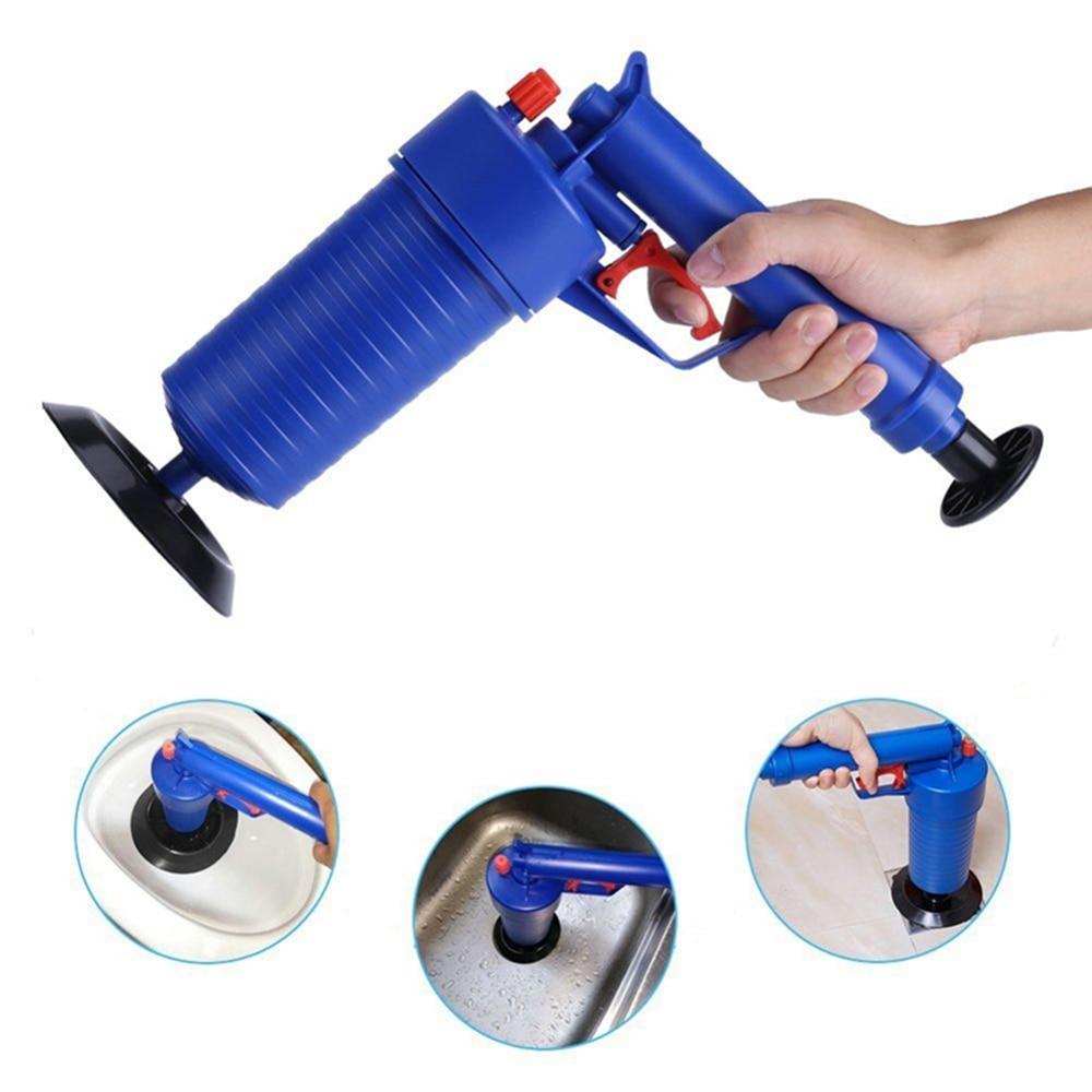 Desatascador de desagüe de aire de alta presión, limpiador de herramienta de tocador para el hogar, filtro de alcantarillado, tubo de fregadero, draga, émbolo, quita la bomba de baño para la cocina