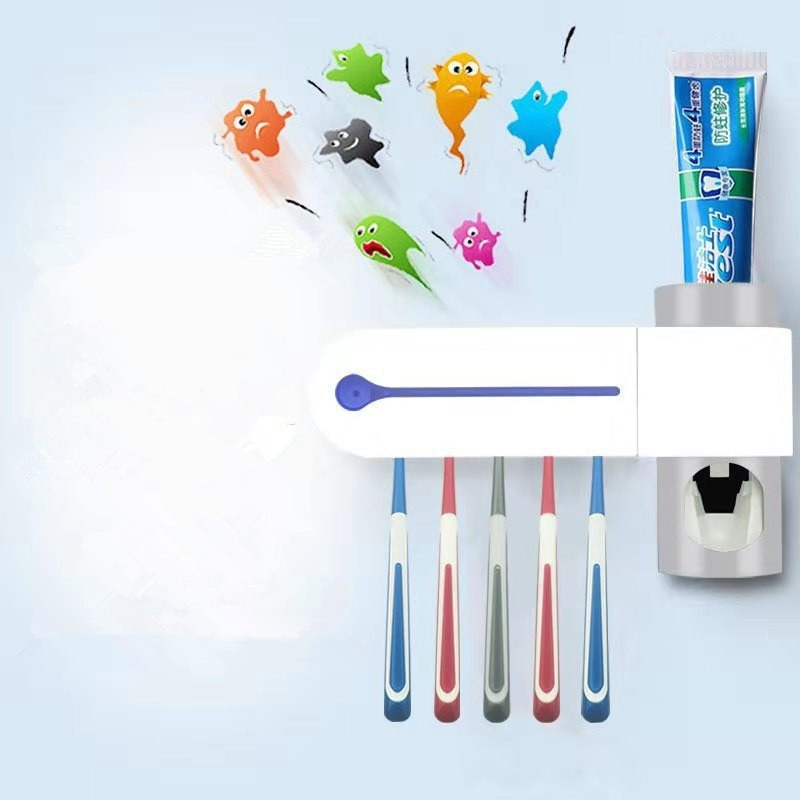 Multi-Function Disinfection by Ultraviolet Light Toothbrush Toothpaste Dispenser Automatic Electric Toothbrush Household enlarge