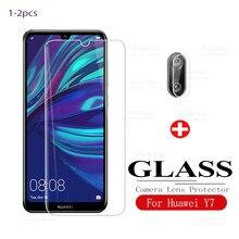 protective glass for huawei y7 2019 camera glass hauwei huavei y7 y7pro 7y y 7 y tempered glas front