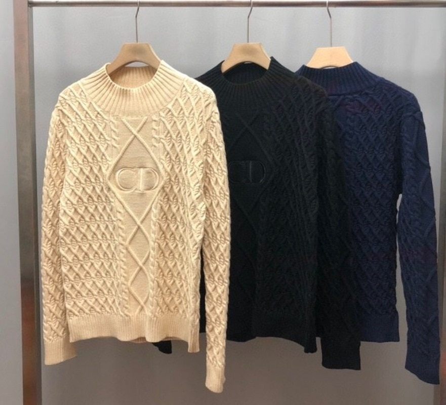 Luxury Clothing Fashion New Brand Sweater Pullover Long Sleeve Knitting Knitting Mens Sweater  Knit Sweater