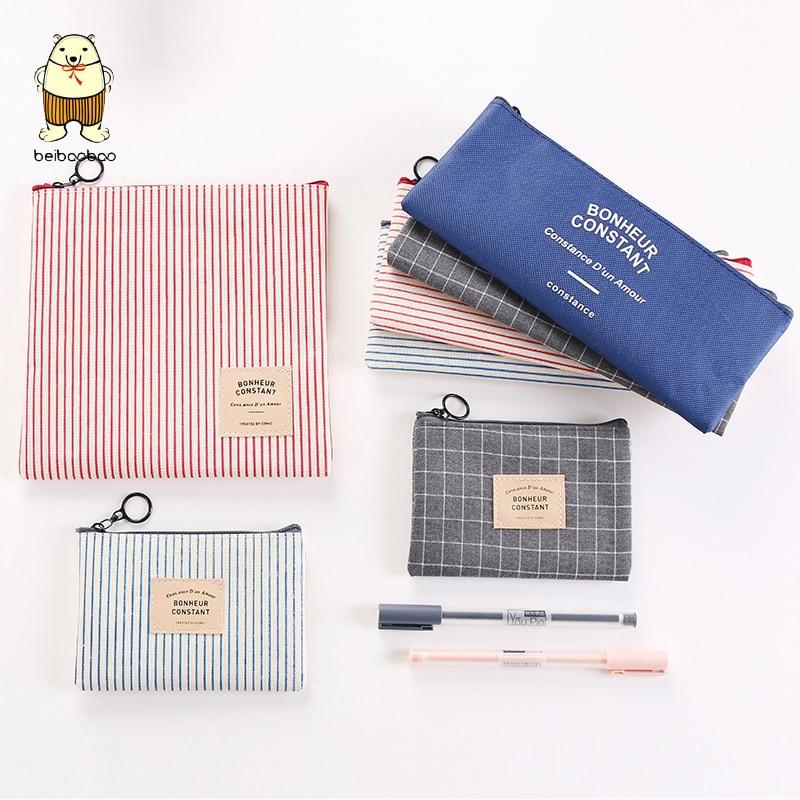 Beibaobao bolso de viaje para cosméticos de moda, organizador para mujeres, bolso de maquillaje con cremallera, femenino, pequeño neceser, bolso, monedero, maquillaje de lápiz