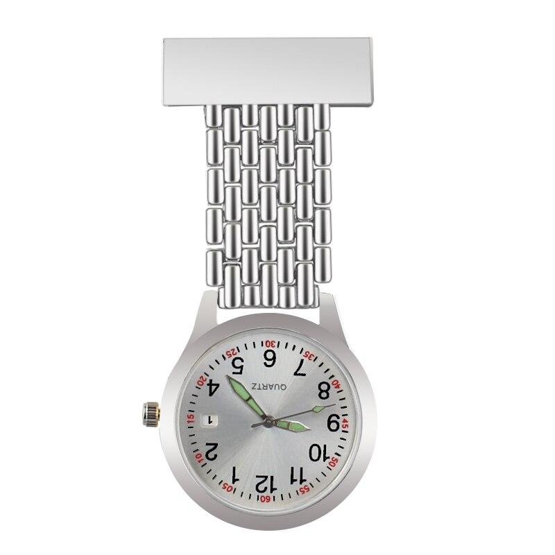 ALK, Классические карманные часы с брелоком, часы для медсестры, водонепроницаемые, серебристые, золотые, розовые, золотые, с отворотом, медиц...