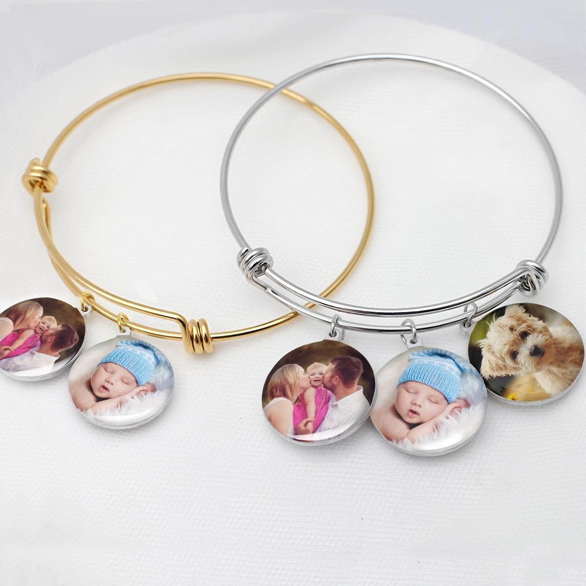 Персонализированный браслет, браслет с изображением на заказ, фото браслет с подвеской, фото браслет, браслет с памятью с изображением, пода...