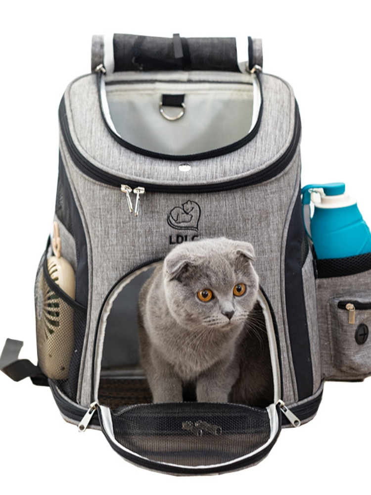 Mochila porta gato para mascotas y bolsa de Escocia de viaje para...