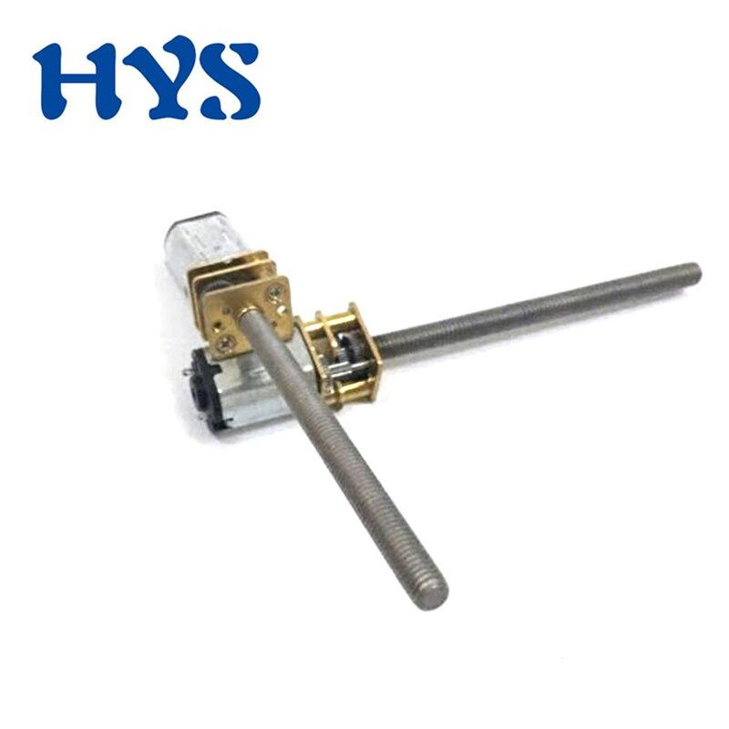 HYS DC 3V 6V 12V Gear Mini Motor Shaft Screw Thread M3 55mm Metal Electric Reducer Motor 12 Volt V DC Micro Motors Reversie N20