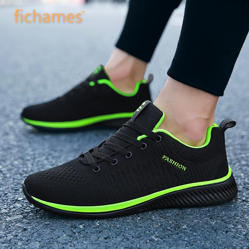 Men Casual Shoes Sneakers Summer Flying Fabric Lac-up Lightweight Comfortable Breathable Walking Plu