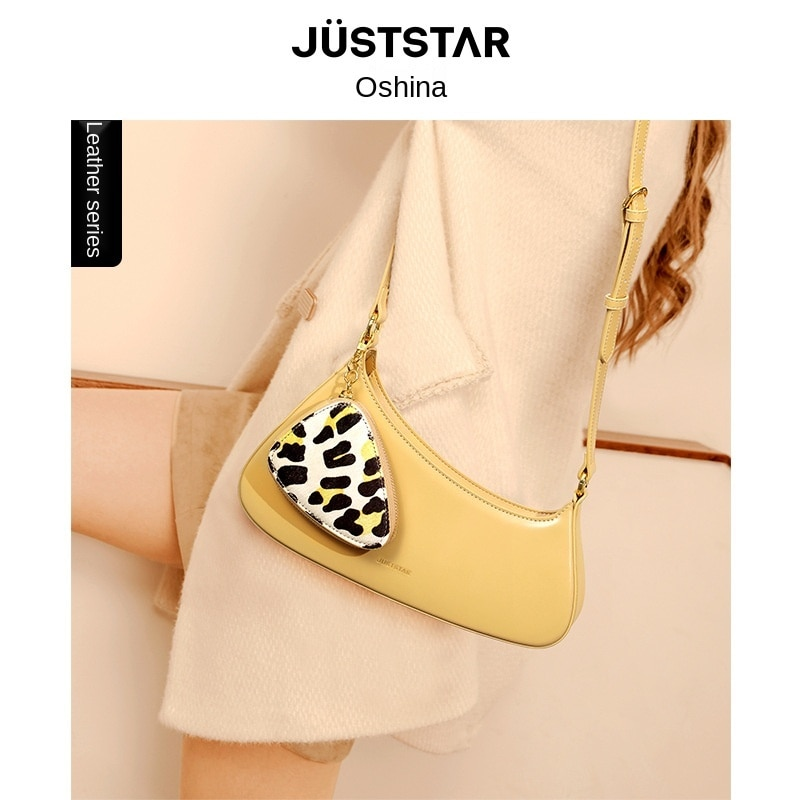 Just Star  Wallet and handbag, women's leather, new style, retro French underarm bag