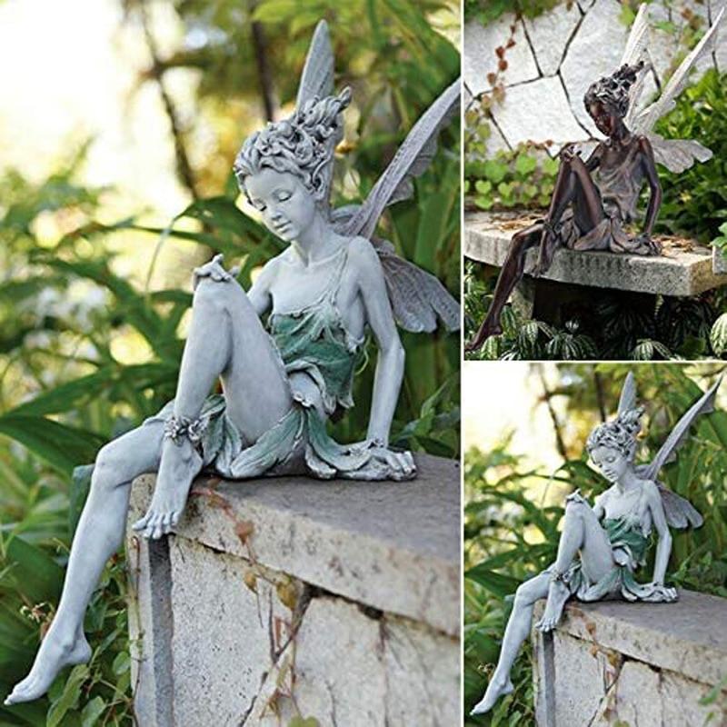 Сказочная статуя в скандинавском стиле, садовое украшение, полимерное ремесло, ландшафтное озеленение, газон, двор, водоемов, украшение для ...