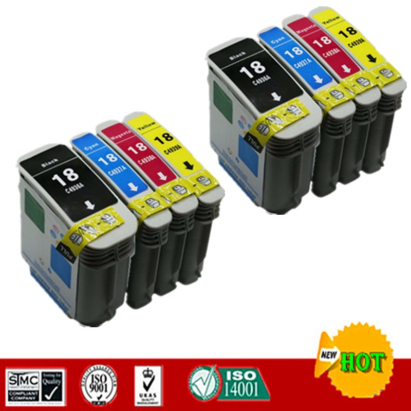 Cartucho de Tinta Compatível para o Terno Hp18 para hp Officejet K5400dtn L7380 L7580 L7590 K8600 Etc. Pro K5300 – K5400dn
