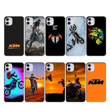 KTM de bicicleta de motor caso coque fundas para iphone 11 PRO MAX X XS X XR 4S 5S 6S 6 7 8 PLUS SE 2020 cubierta de los casos