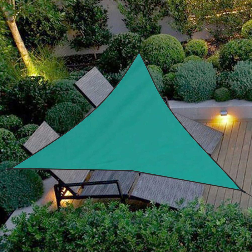 Sol à prova dwaterproof água abrigo triângulo sunshade vela grande pátio jardim toldo ao ar livre pano dossel sombra acampamento h9h4