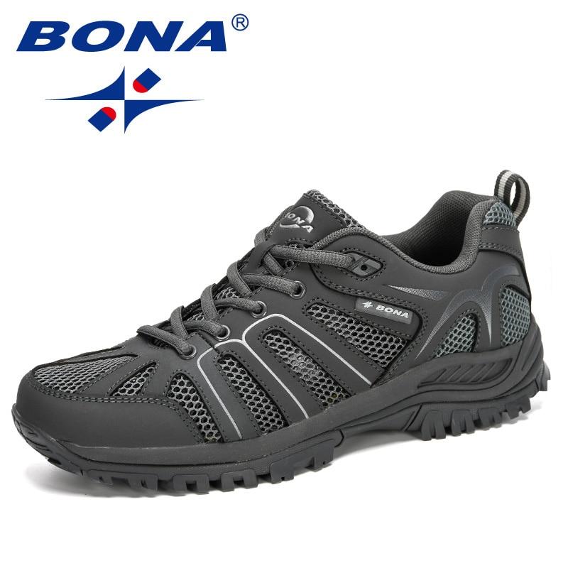 BONA-أحذية رياضية مريحة للرجال ، أحذية خارجية غير قابلة للانزلاق ، عصرية ، 2020