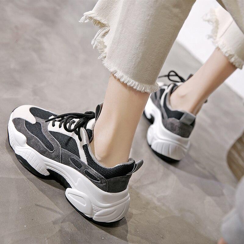 2021 Women Mesh Platform Summer Sneakers Vulcanized Female Casual Comfort Sport Shoes Ladies Breathable New Footwear H0010