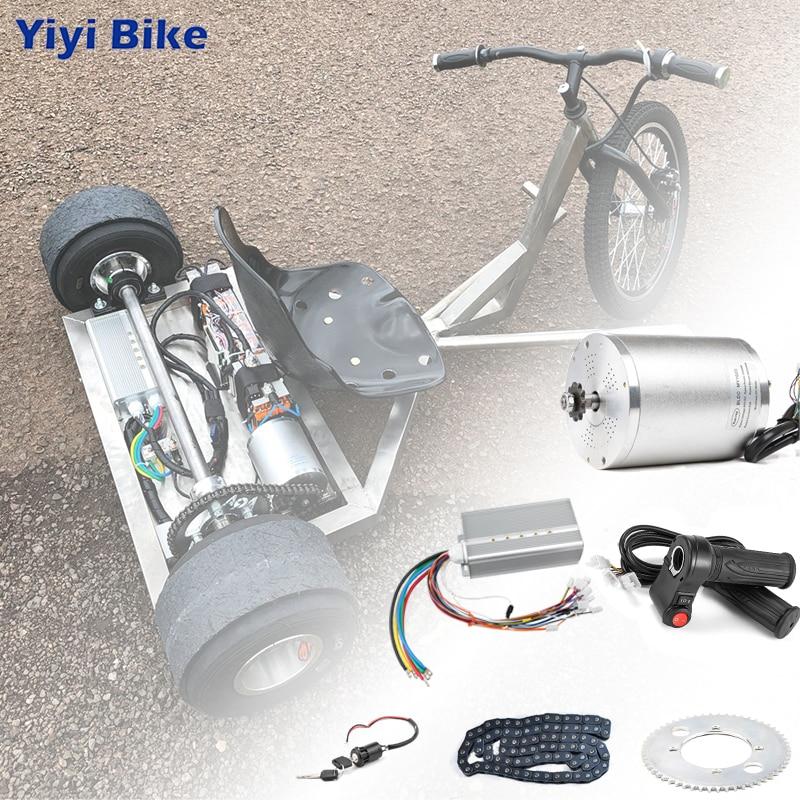Electric Scooter Kit Electric Bike Conversion Kit 3000w 48V-72V Electric Motor for Skateboard Ebike Motor Controller 50A Go Kart