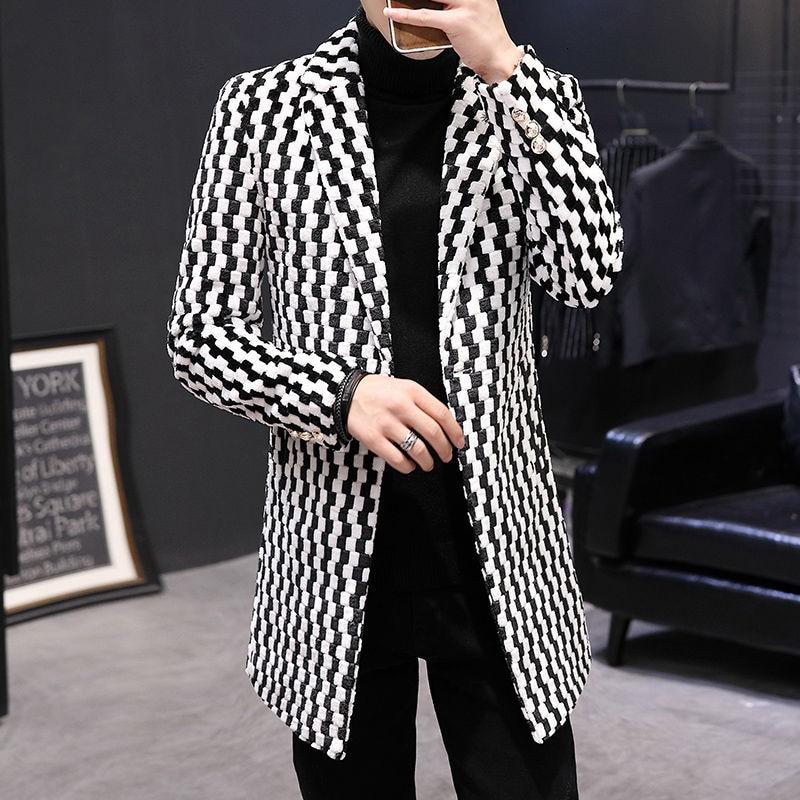Abrigo de lana de imitación para Hombre, chaqueta cálida larga y gruesa,...