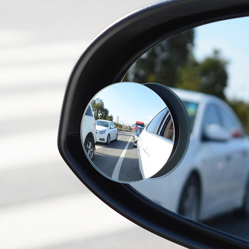 Автомобильное широкоугольное регулируемое вращающееся круглое выпуклое зеркало 360 градусов автомобильное вспомогательное зеркало заднег...
