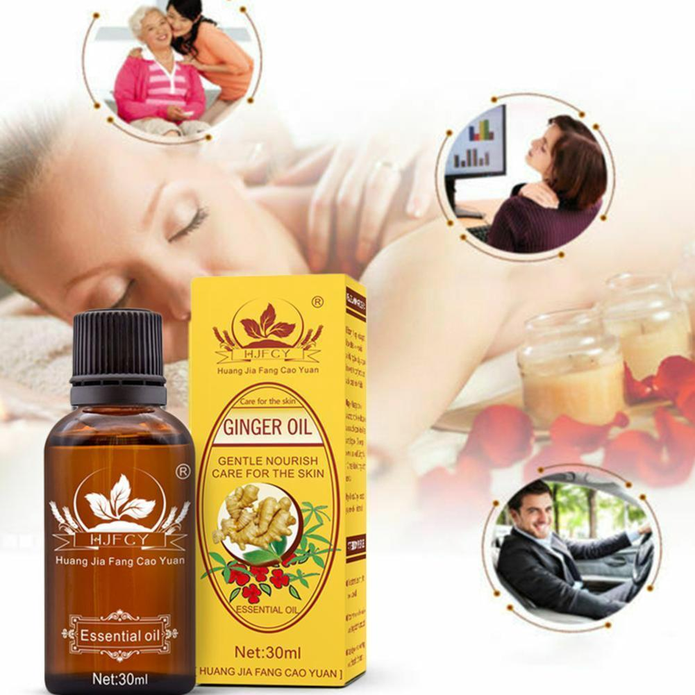 30ml Ginger Essential Oil Plant Therapy Body Massage Detoxification Pure Lymphatic Plant Body Oil Aging Oil SPA Anti Essent K8R0 origins ginger gloss smoothing body oil