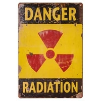 danger sign danger radiation allied military vintage tin sign outdoor funny signs 20x30cm tin sign