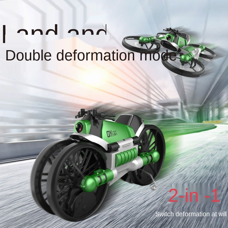 Land Air Drone Aerial Photography Dual-purpose Deformed Motorcycle Aircraft Boy Remote Control Plane Pupil Toy Boy enlarge