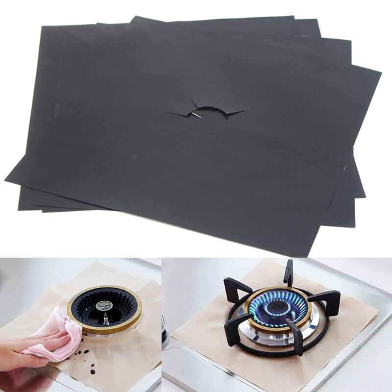4 шт. 27x27 см Защитная крышка для газовой плиты многоразовая Защитная Прокладка для газовой плиты Нетоксичная без запаха безвкусный FP8