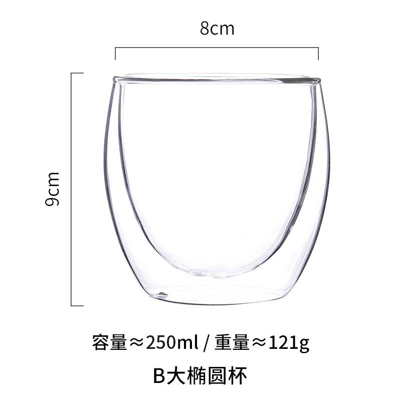 Taza De Cristal transparente sencilla para café, vasos De café, vasos De...