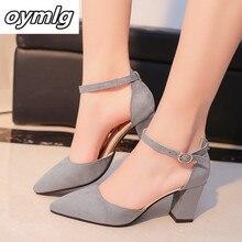 2020 sandali femeninas Autunno tacchi alti Flock sandali a punta sexy tacchi alti femminile di estate scarpe sandali Femminili mujer s040