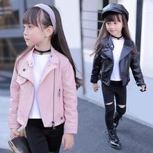 Pu Girls Teens Jackets Girl Kids Classic Collar Coats Teen Windbreaker Clothing Children's Outerwear