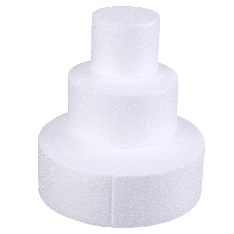Torta falsa de espuma de poliestireno redonda de 6/10/15cm, decoración de flores, modelo Patrice, accesorios de decoración para bodas