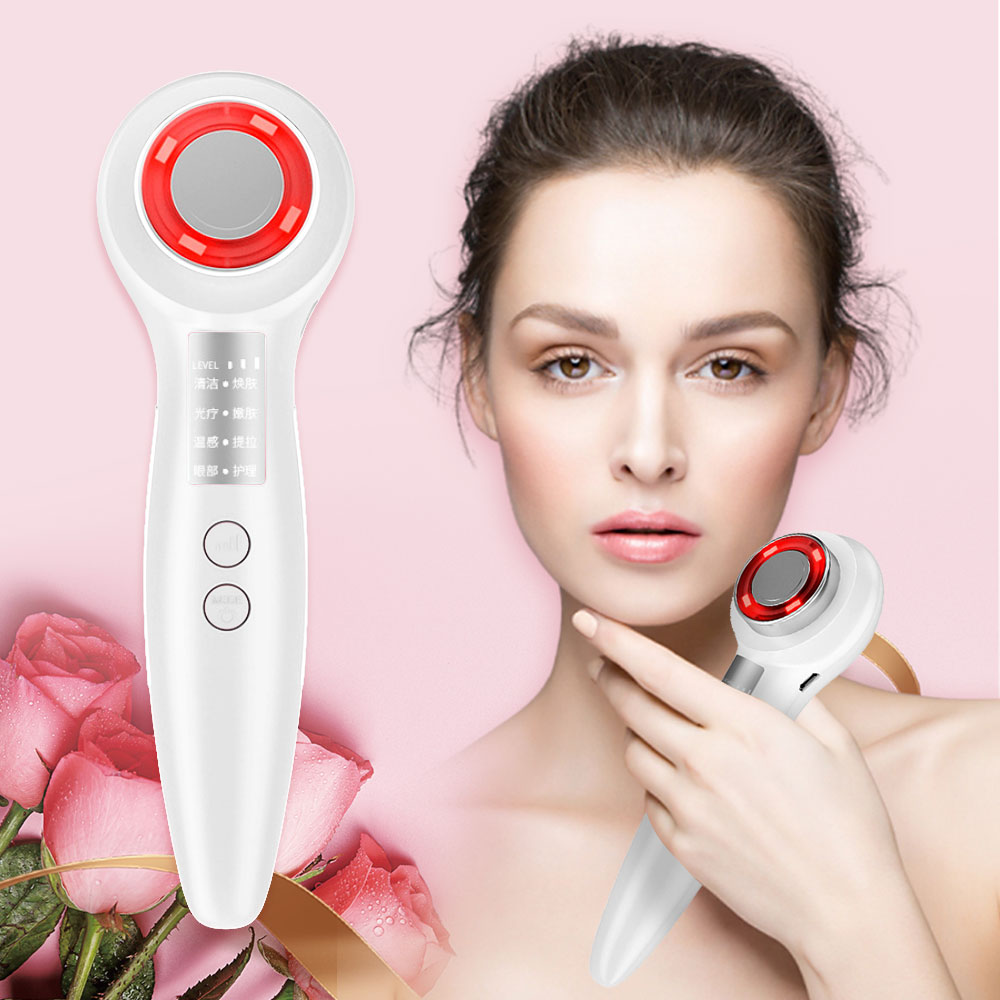 Facial Massager RF EMS Beauty Instrument LED Photon Light Therapy Device Face Lifting Tighten EMS Beauty Machine Face Skin Care