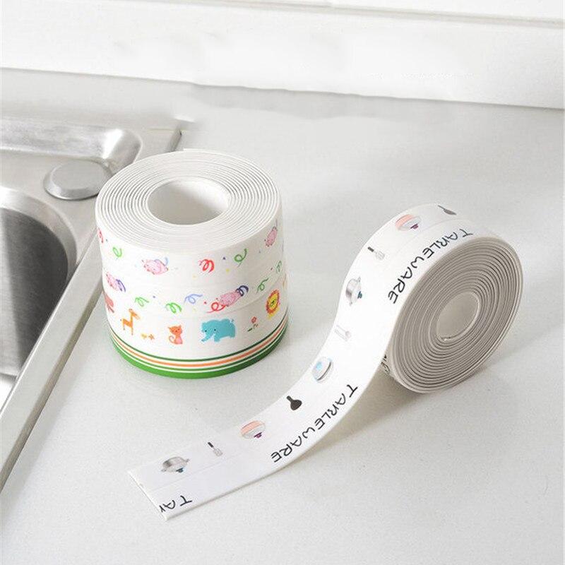 2Rolls Kitchen Sink Anti-mold Tape Waterproof Sticker Countertop Toilet Gap Tape Self-adhesive Seam Sticker Bathroom Accessories
