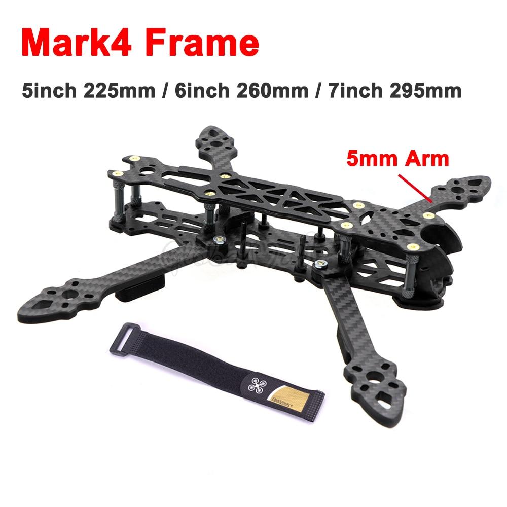 Mark4 Mark 5 pulgadas 225mm / 6 pulgadas 260mm / 7 pulgadas 295mm con brazo de 5mm FPV Racing RC Drone Quadcopter marco para Freestyle para Gallo 230mm