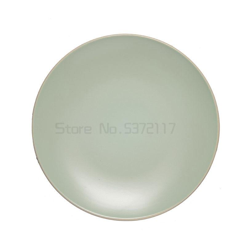 الشمال الغربي نمط مات الضوء الأخضر أدوات مائدة سيراميك الغربية مطعم طبق ستيك طبق سلطة الفاكهة طبق 11 بوصة