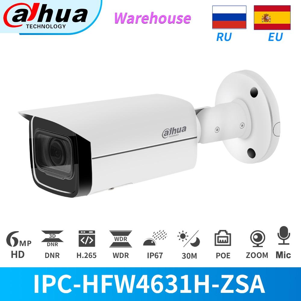 داهوا IP كاميرا 6MP 5X التكبير PoE الأمن في الهواء الطلق البناء في هيئة التصنيع العسكري IPC-HFW4631H-ZSA CCTV المراقبة SD فتحة للبطاقات مع قوس IP67