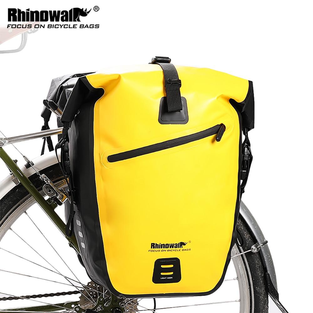 RHINOWALK Waterproof Bike Bag 27L Travel Cycling Bag Basket Bicycle Rear Rack Tail Seat Trunk Bags bicycle bags & panniers