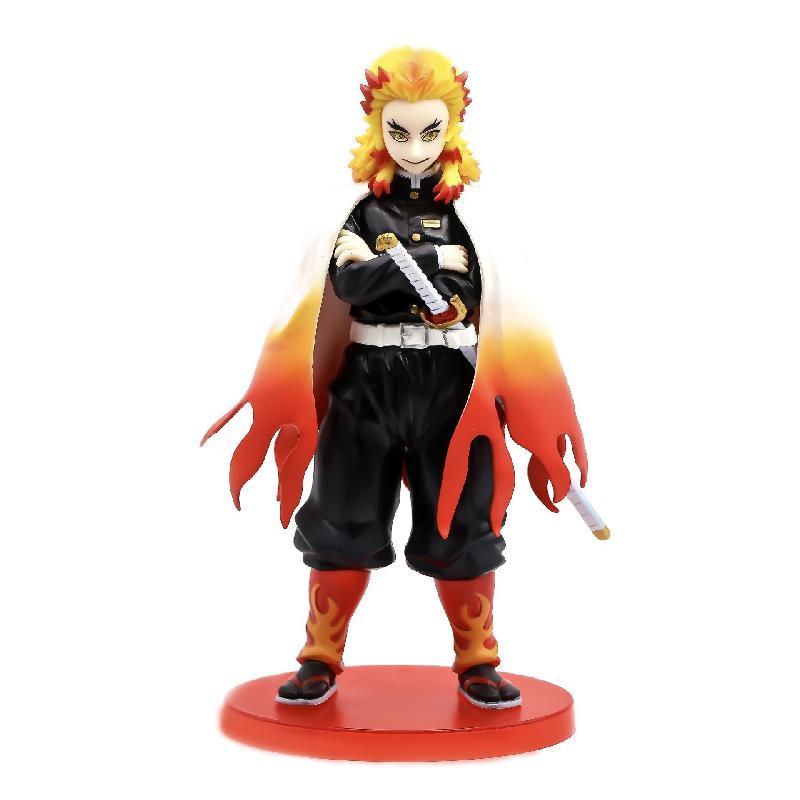 Demon Slayer Kimetsu No Yaiba Anime Figure Rengoku Kyoujurou PVC Action Figure Devil's Blade Collectible Model Toys Decoration
