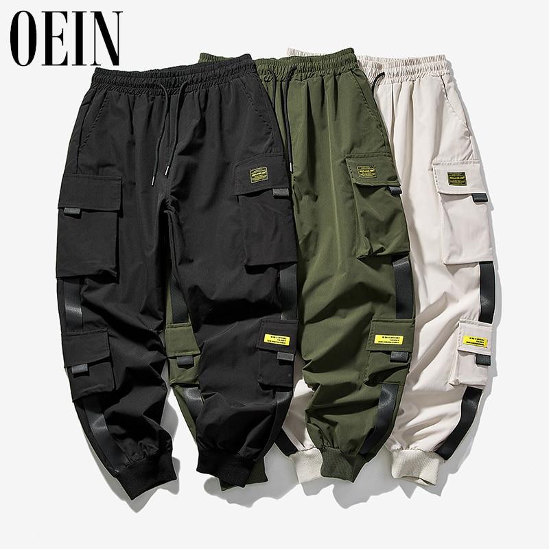 Брюки-карго OEIN мужские эластичные, уличная одежда, джинсовые штаны-карго, брюки-стрейч, брюки для бега, осень-весна, 2021