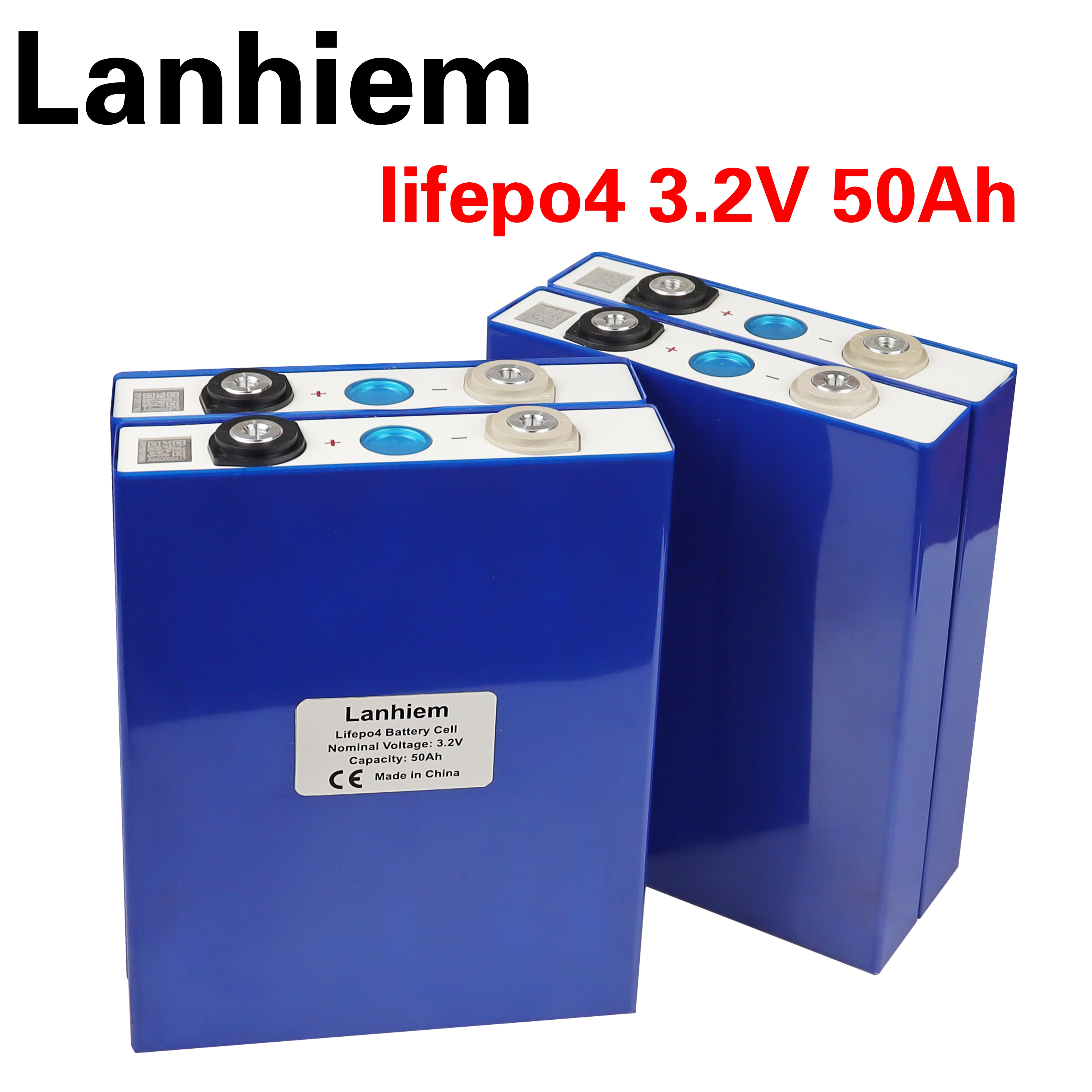 LiFePO4 battery 3.2V 50Ah rechargeable lithium iron phosphate battery