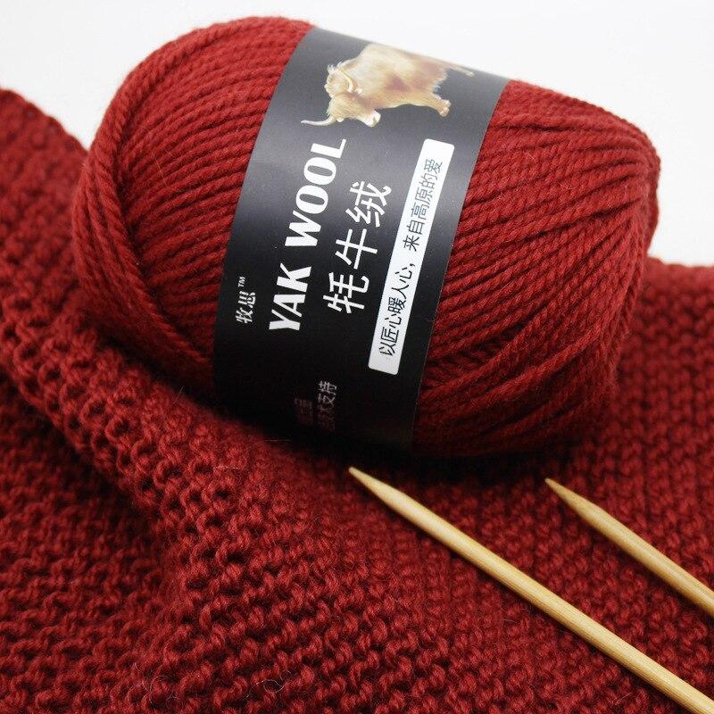 5 pçs 500g yak veludo cachecol linha chapéu vara agulha australiana lã mão-tecido médio espessura casaco colete lã fio
