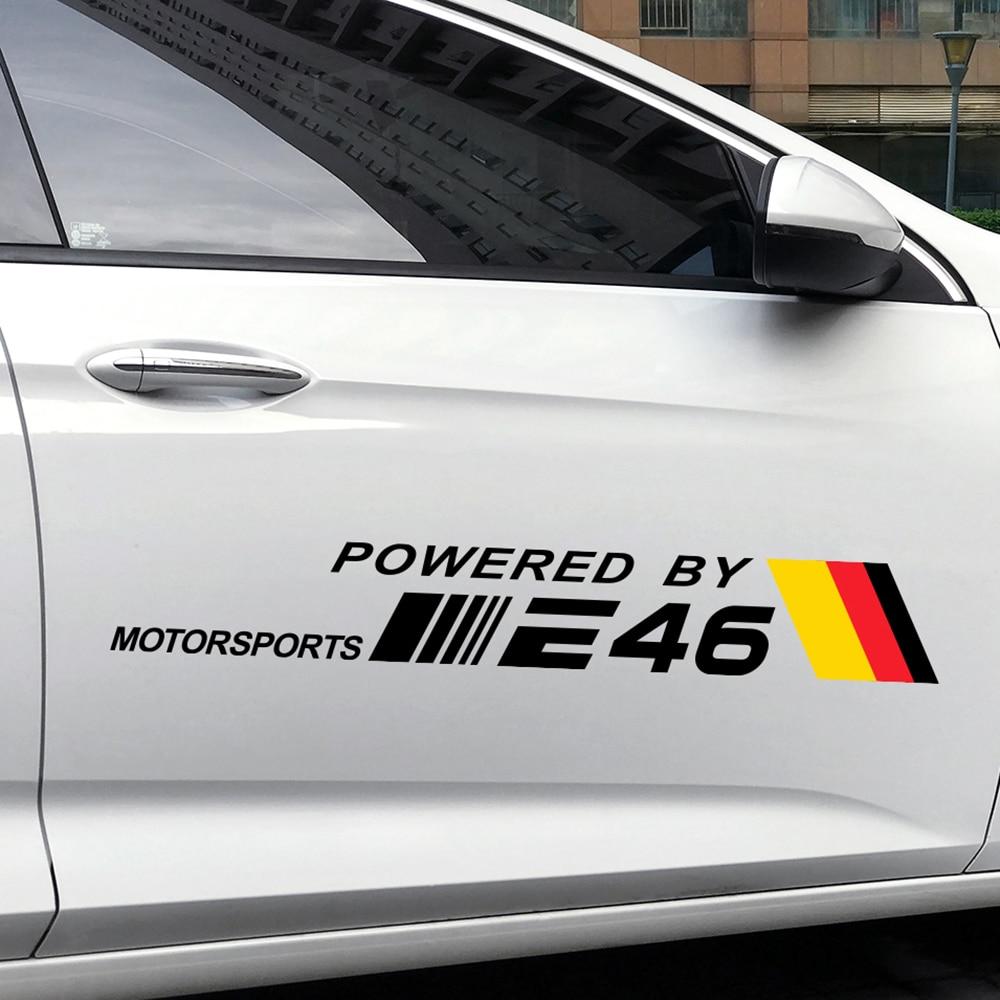 2 uds etiqueta engomada del coche para BMW E46 M3 318i 320d 325i 330ci M43TU N42 N46 M54 3,0 Coupe BENZYNA pegatina de vinilo reflectante de accesorios para automóviles