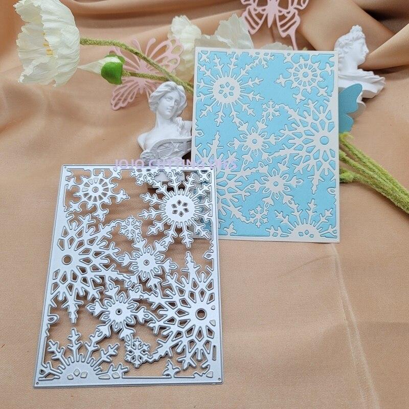 Металлические Вырубные штампы в виде снежинок для рукоделия, скрапбукинга, альбомной бумаги, вырубки для тиснения