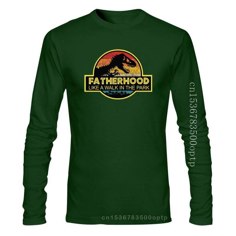 New Fatherhood Like A Walk In The Park Funny T-Shirt Gifts Dad Men Black M - 3Xl Streetwear Funny Te