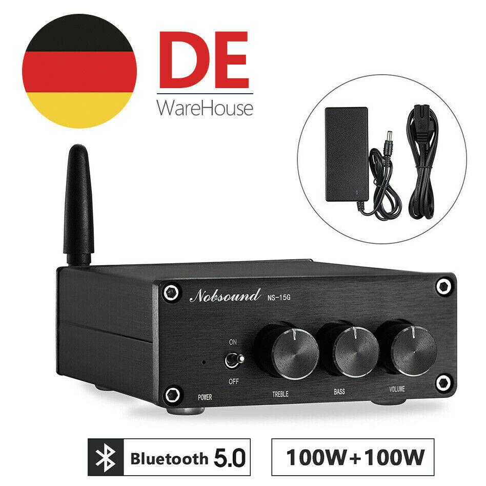 Nobsound 200w mini bluetooth 5.0 tpa3116 amplificador de potência digital classe d alta fidelidade estéreo áudio baixo amp