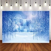 snow queen backdrop ice snow white world princess birthday party photography background for photo studio prop