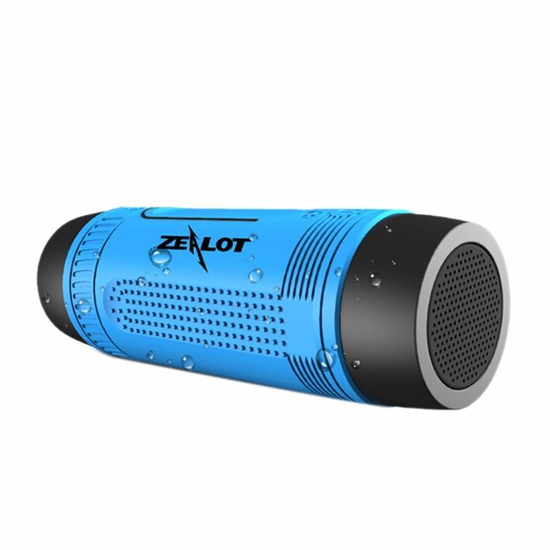 ZEALOT S1 Открытый Водонепроницаемый Bluetooth аудио 4,0 водонепроницаемый с картой беспроводной динамик для езды на велосипеде портативный динамик зарядка