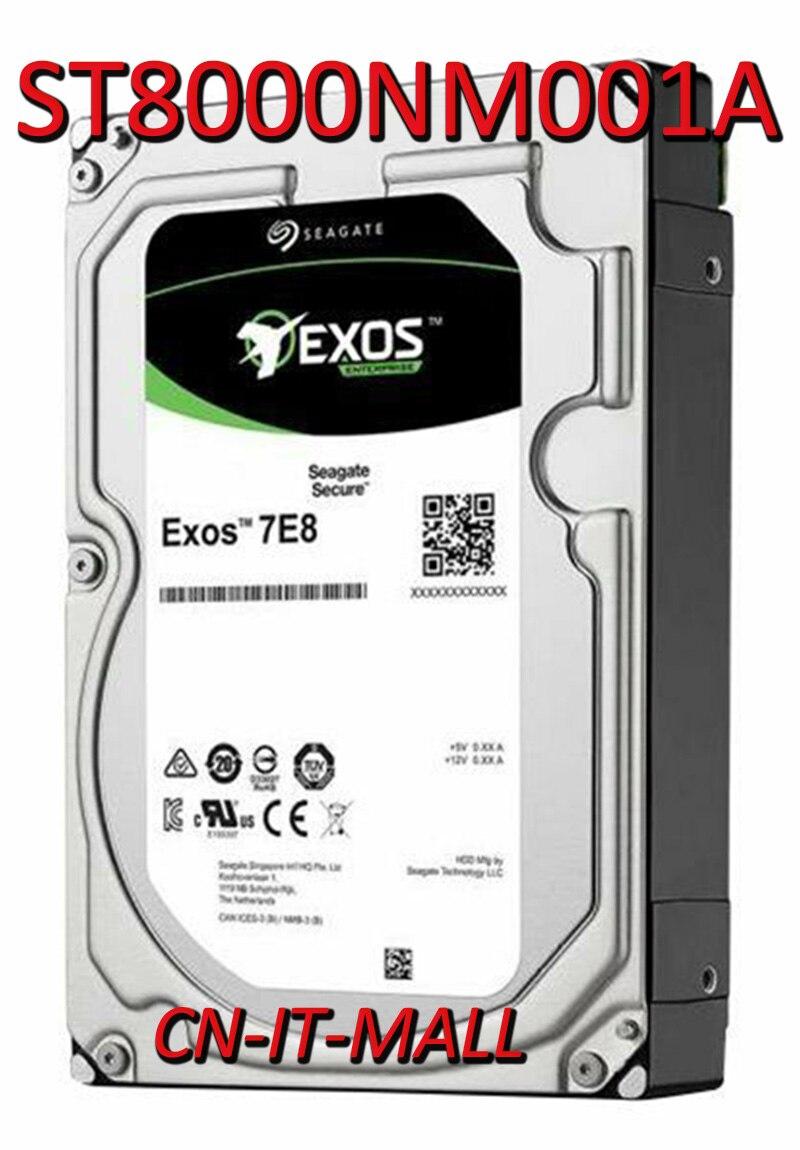 "Seagate Exos 7E8 ST8000NM001A 8TB 7200 RPM 256MB Cache SAS de 12 Gb/s 3,5 ""empresarial interno disco duro"