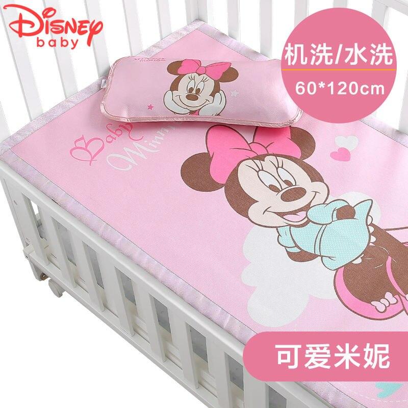 Disney Summer Cartoon Baby Baby Mat Newborn Ice Silk Mat Breathable Kindergarten Children Universal Nap Mat